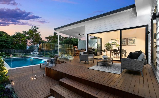 willoughby architects high street project back deck and pool