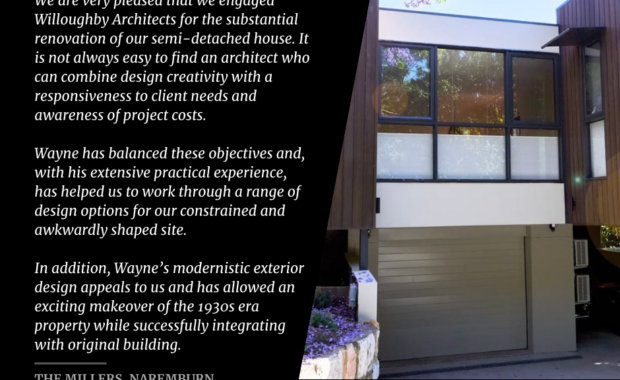 Willoughby Architects Testimonial - The Millers